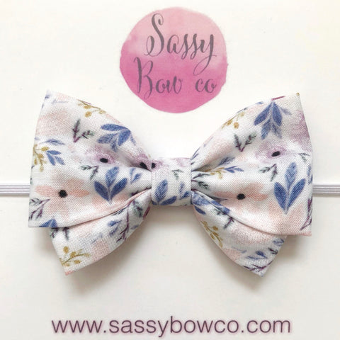 Twiggy Floral Madi Cotton Bow