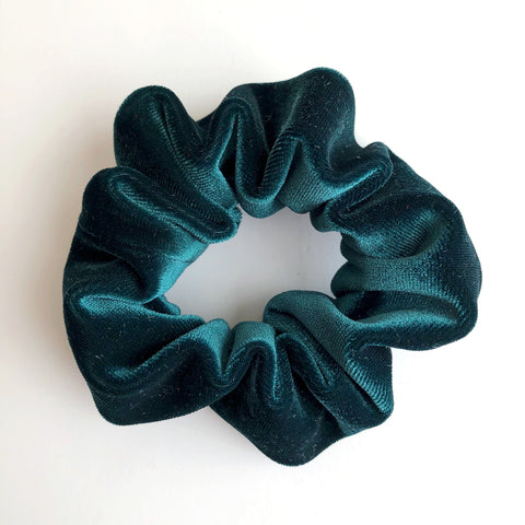 Hunter Green Velvet Scrunchie