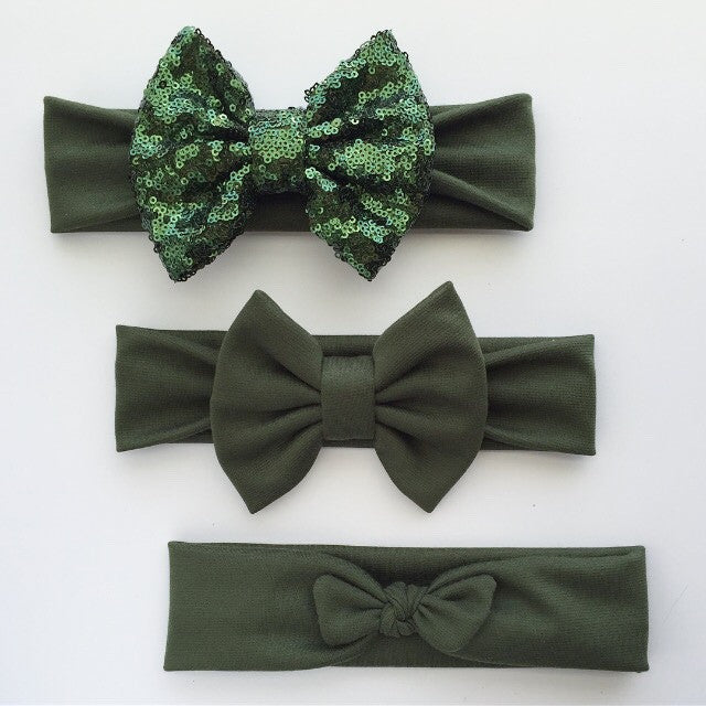 Olive Green Headbands