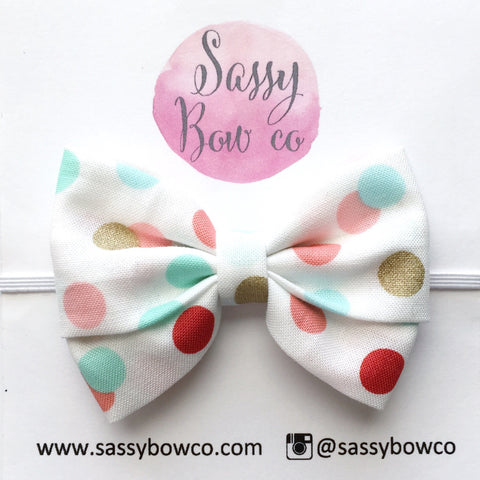 Multi Dot Madi Cotton Bow