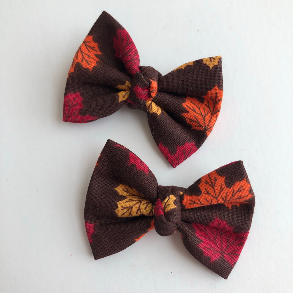 "Autumn Leaves 2"" pigtail set"