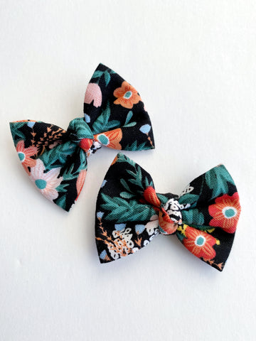 "Tropical Floral 2"" pigtail set"