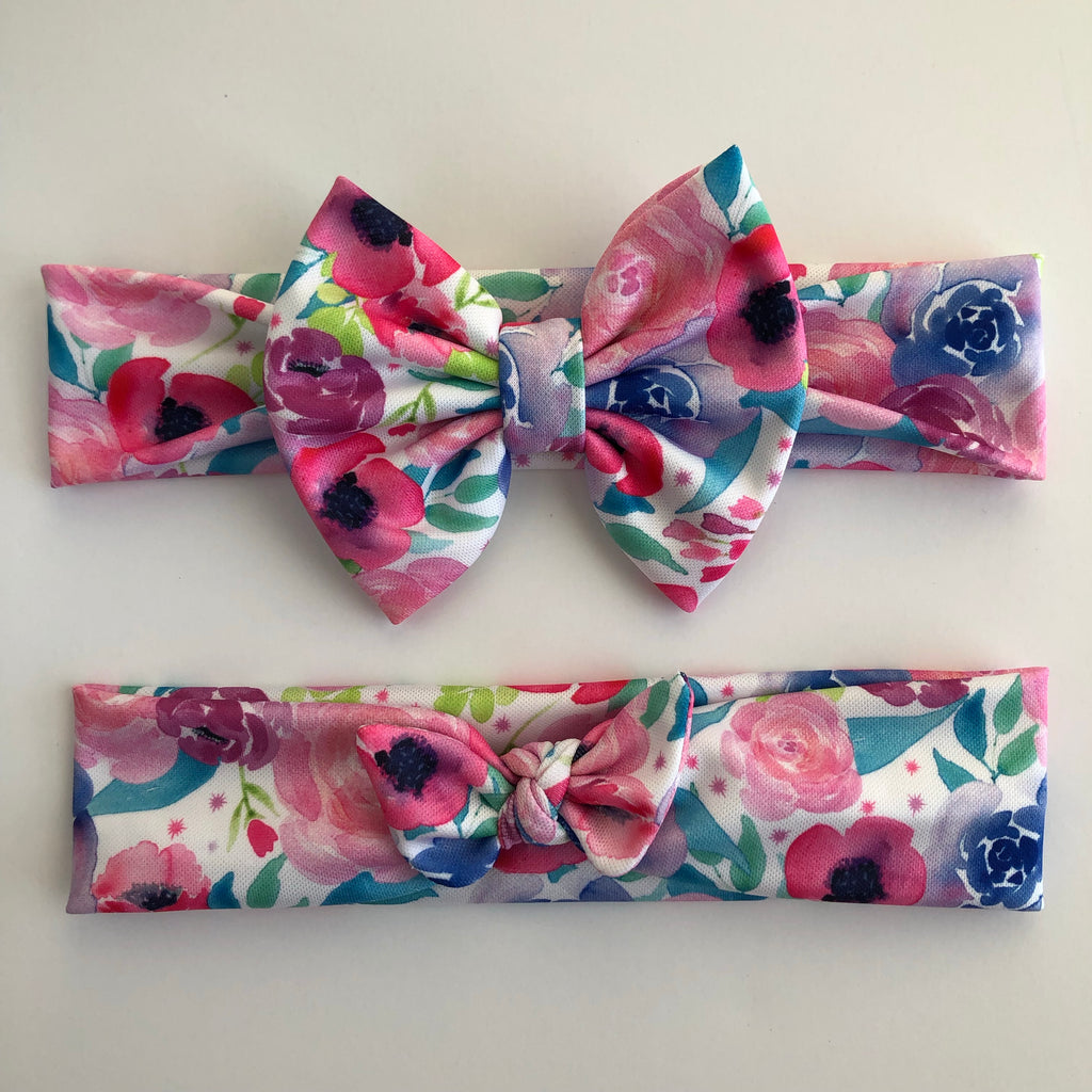Neon Watercolor Floral Headbands