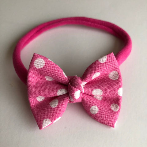 "Mickey Pink Dot 2"" Chloe bow"