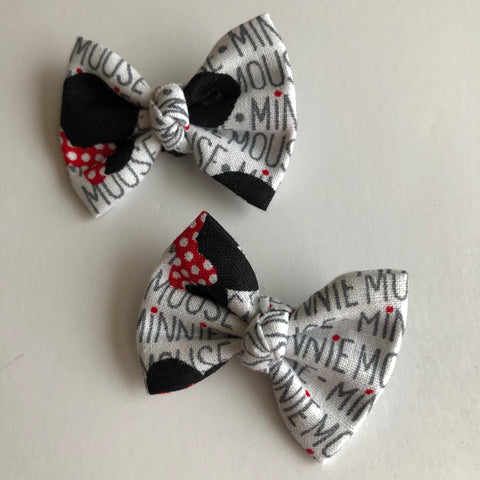 "Minnie Script 2"" pigtail set"