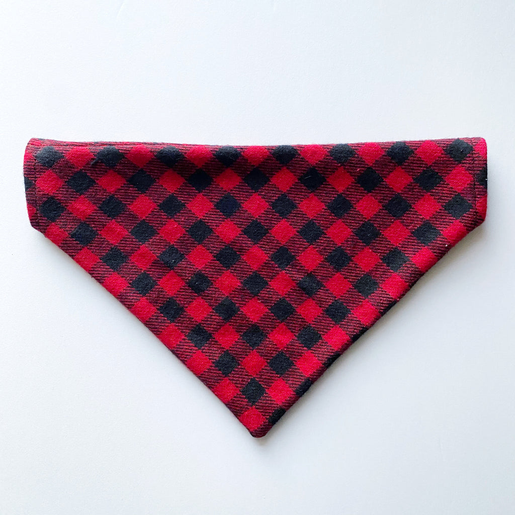 Flannel Buffalo Plaid Dog Bandana