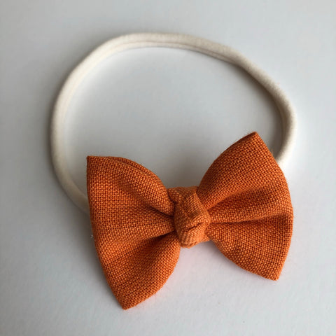 "Harvest Orange 2"" Chloe bow"