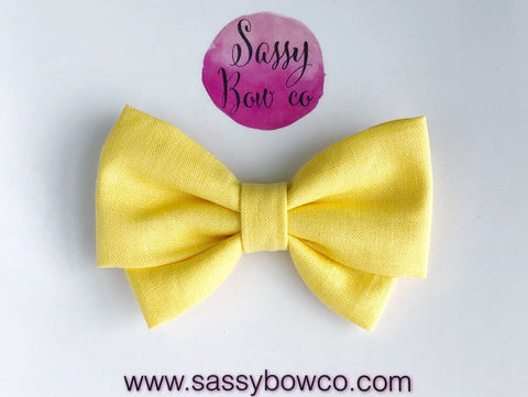Yellow Madi Cotton Bow