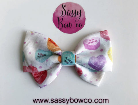 Candy Hearts Madi Cotton Bow