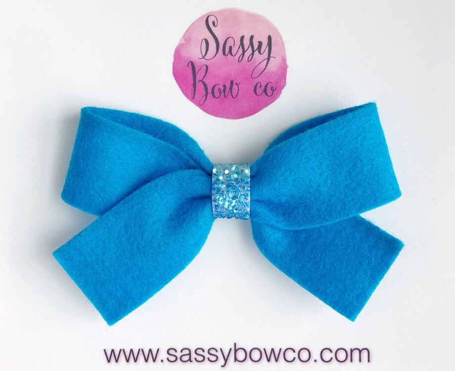Teal Anniston Bow