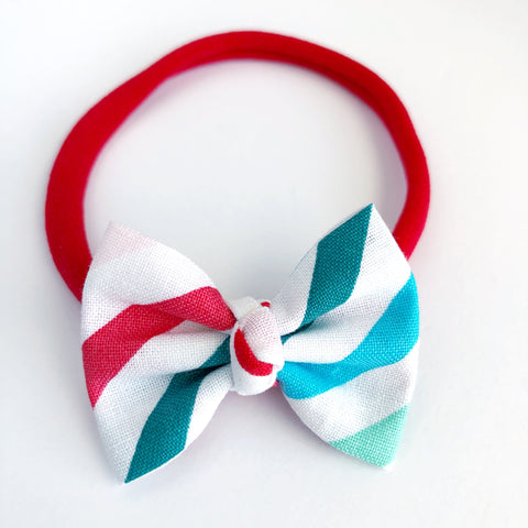 "Rainbow Stripes 2"" Chloe bow"