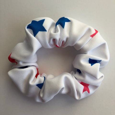 Red & Blue Star Scrunchie