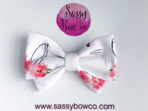 Bunny Floral Madi Cotton Bow