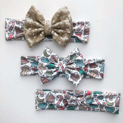 Christmas Cookie Headbands