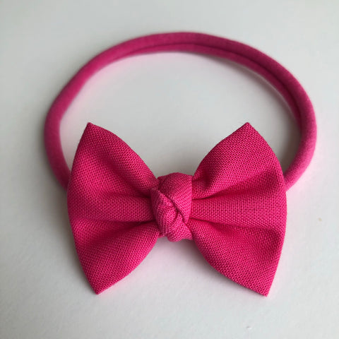 "Hot Pink 2"" Chloe bow"