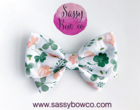 Clover Floral Madi Cotton Bow