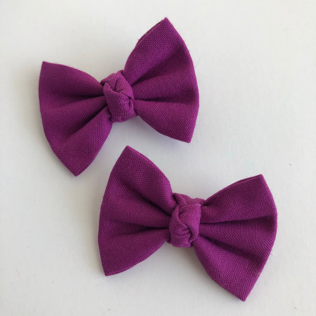 "Plum 2"" pigtail set"