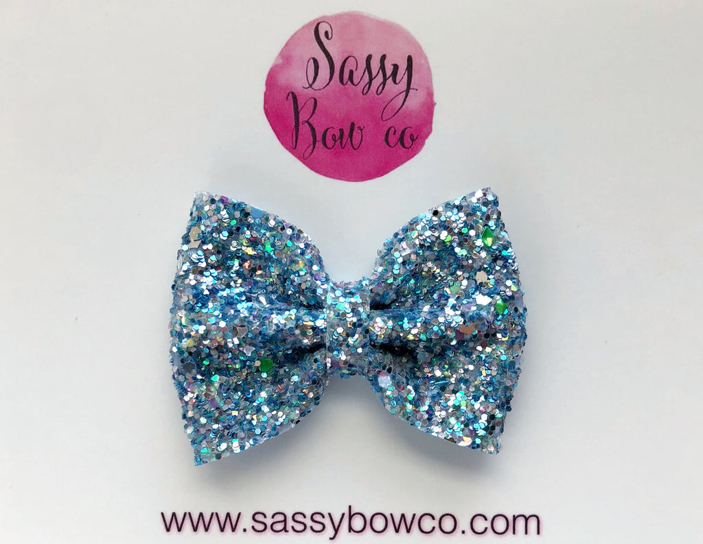 Small Crystal Waters Glitter Bow