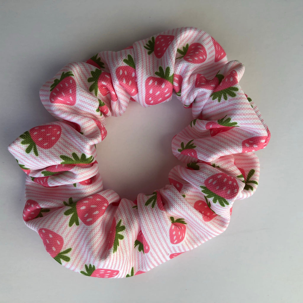Strawberry Stripes Scrunchie