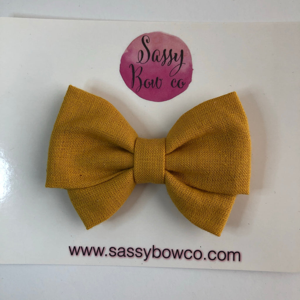 Mustard Madi Cotton Bow