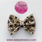 Small New Years Glitter Bow