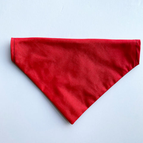 Black/Red Reversible Dog Bandana