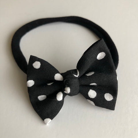 "Mickey black Dot 2"" Chloe bow"