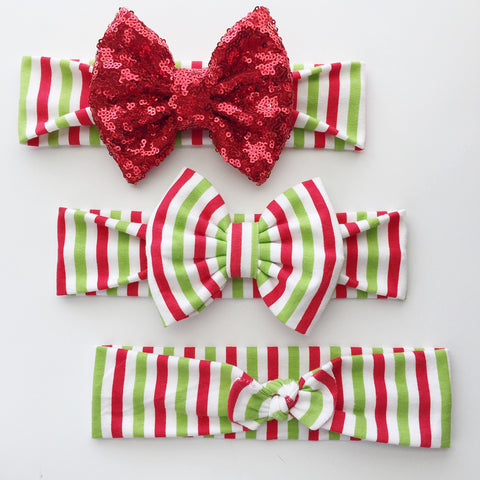 Holiday Stripe Headbands
