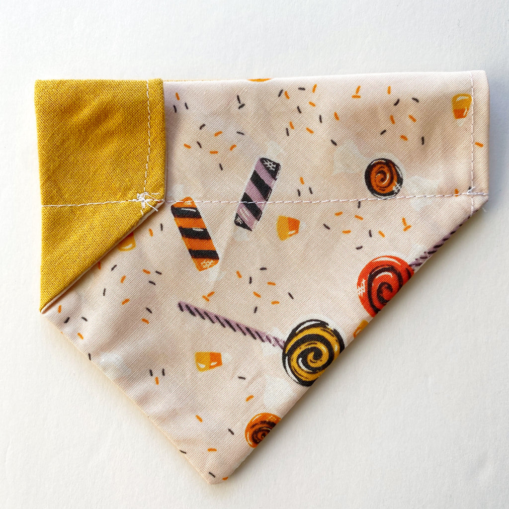 Halloween Candy Reversible Dog Bandana