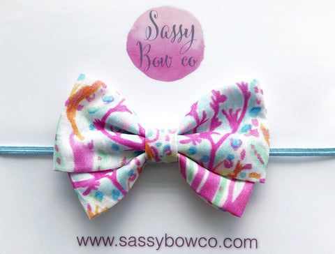 Coral Reef Madi Cotton Bow