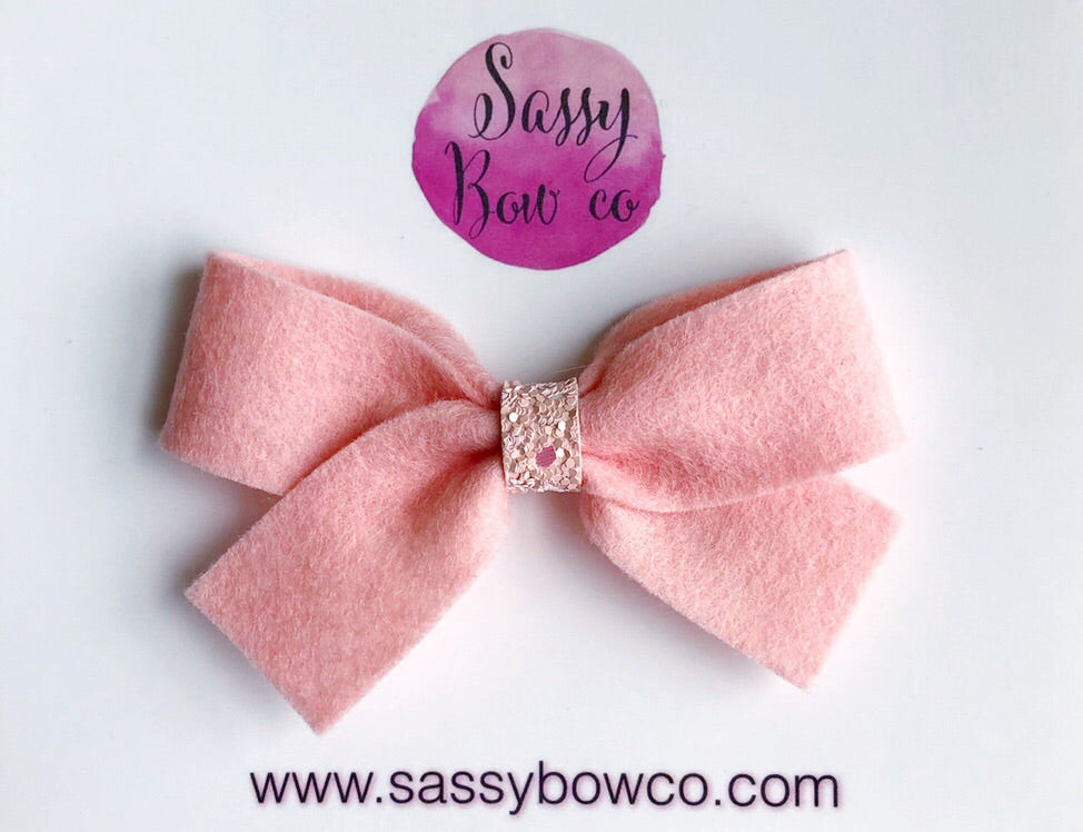 Soft Pink Anniston Bow