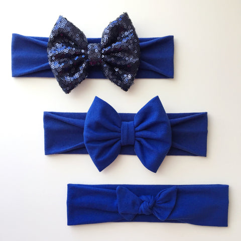 Royal Blue Headbands