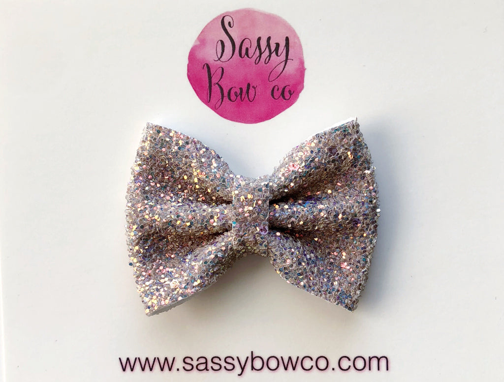 Small Cobblestone Glitter Bow