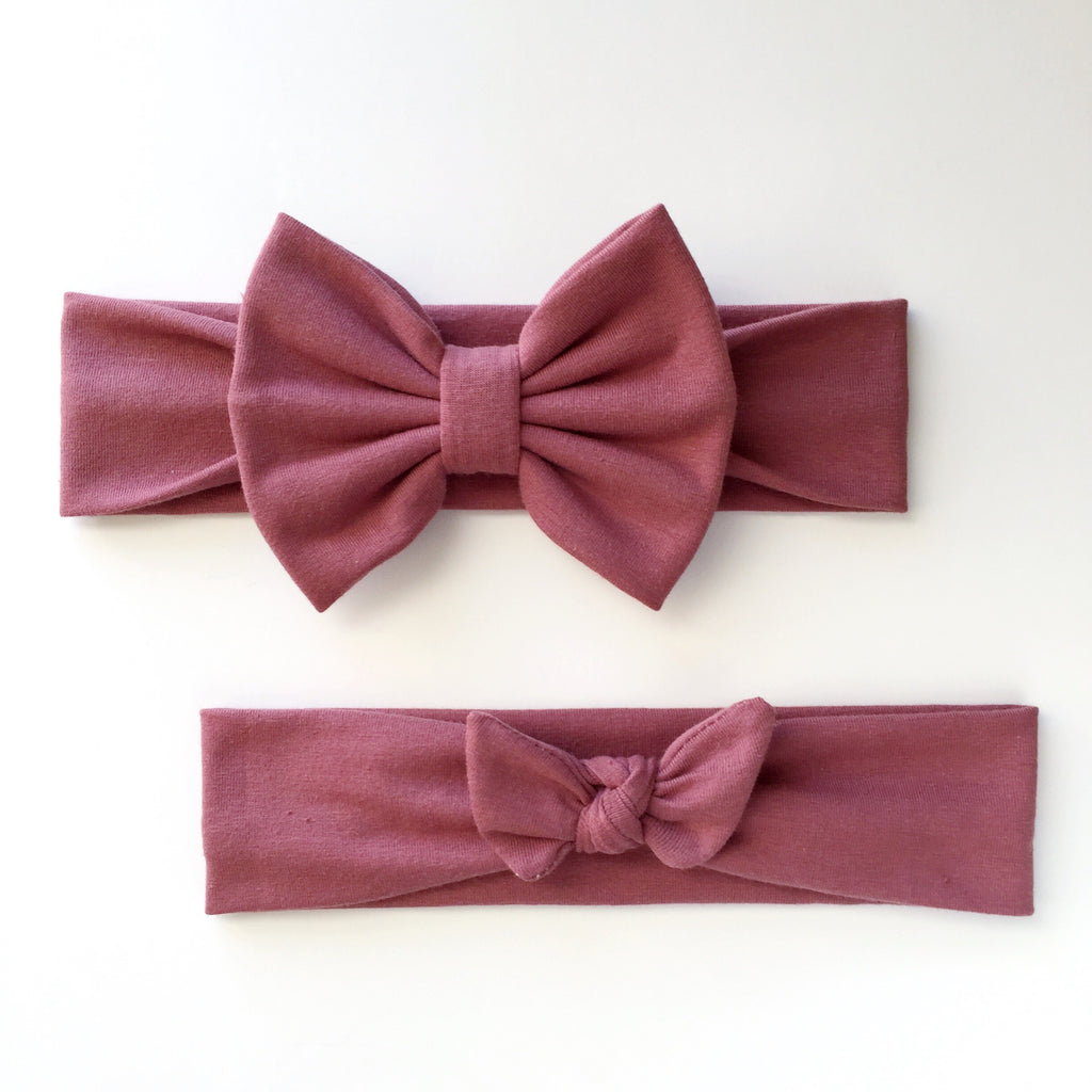 Mauve Headbands