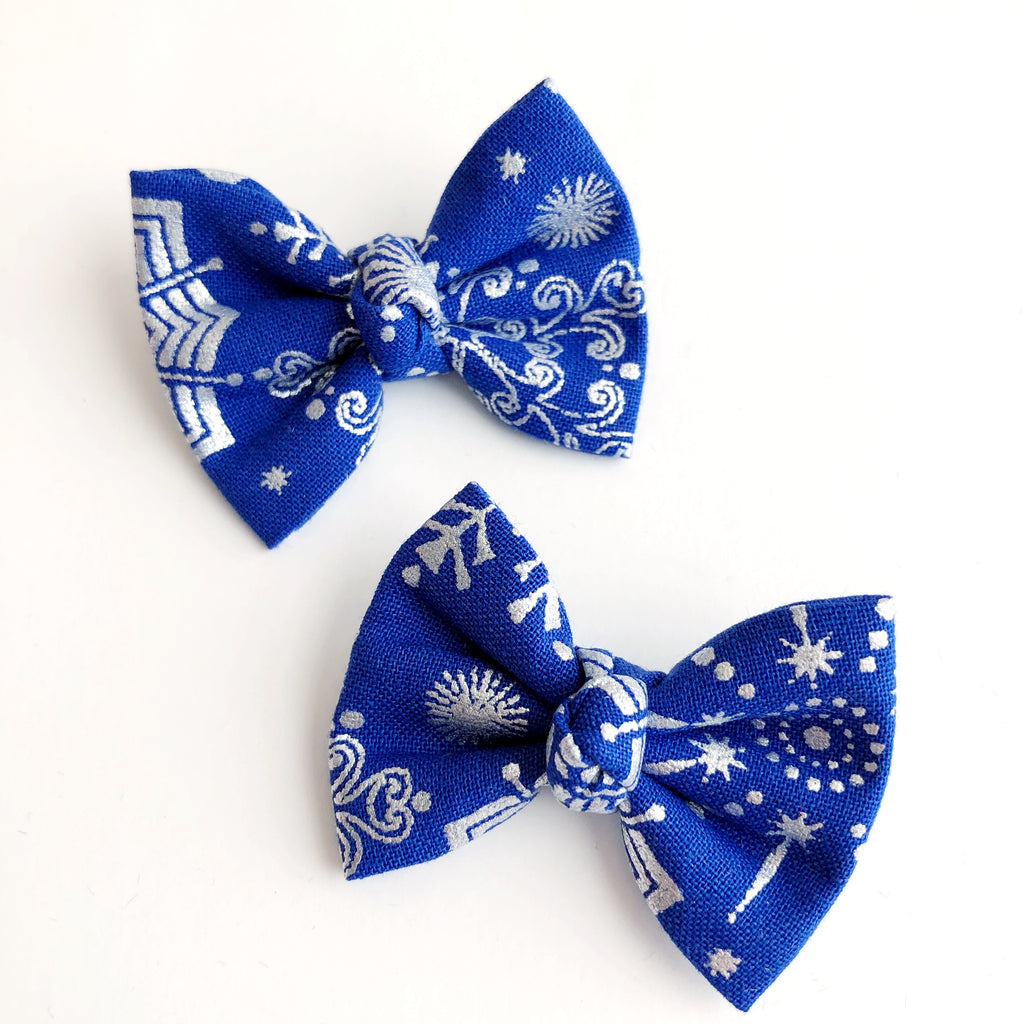 "Starry Night 2"" pigtail set"