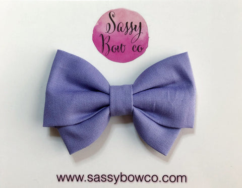 Lavender Madi Cotton Bow