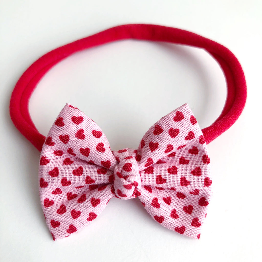 "Mini Hearts 2"" Chloe bow"