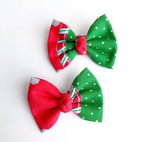"Christmas Patch 2"" pigtail set"