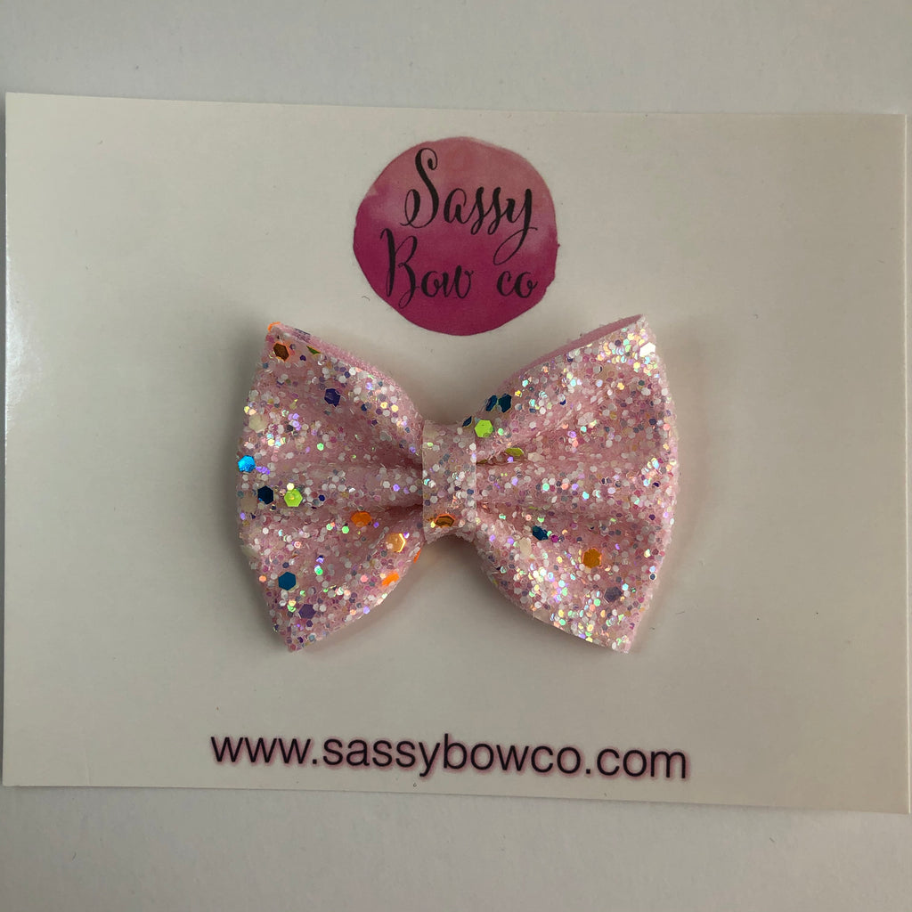 Small Glow In The Dark Glitter Bow
