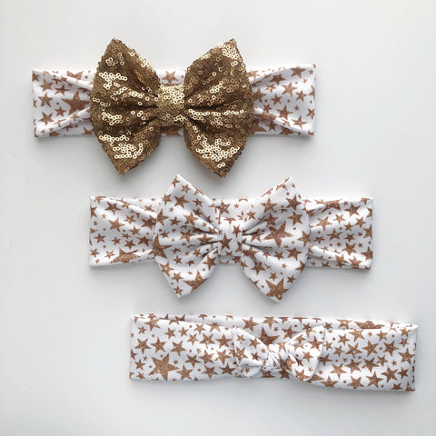 Gold Glam Stars Headbands