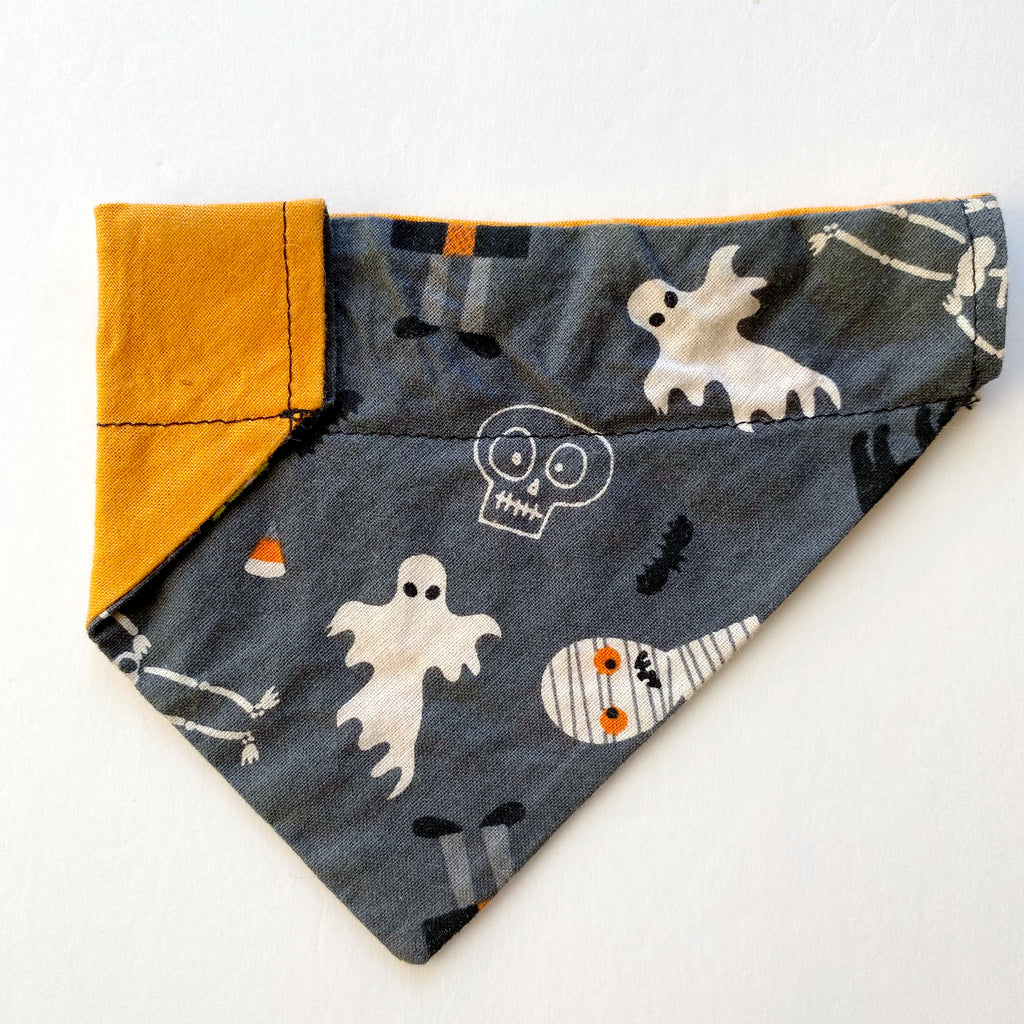 Spooky Reversible Dog Bandana