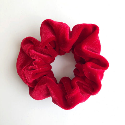 Holiday Red Velvet Scrunchie