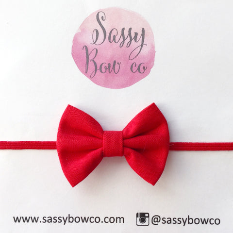 Red Chloe Cotton Bow