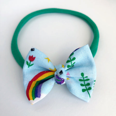 "Unicorn Rainbows 2"" Chloe bow"