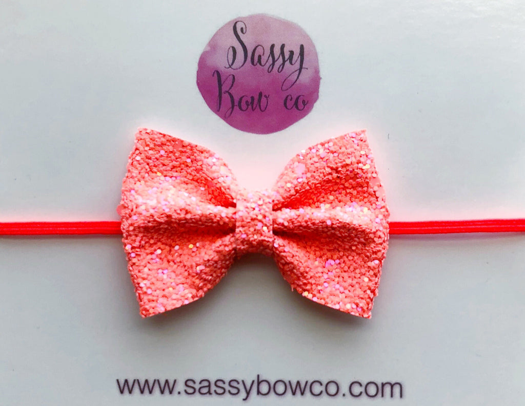 Small Hot Tamale Glitter Bow
