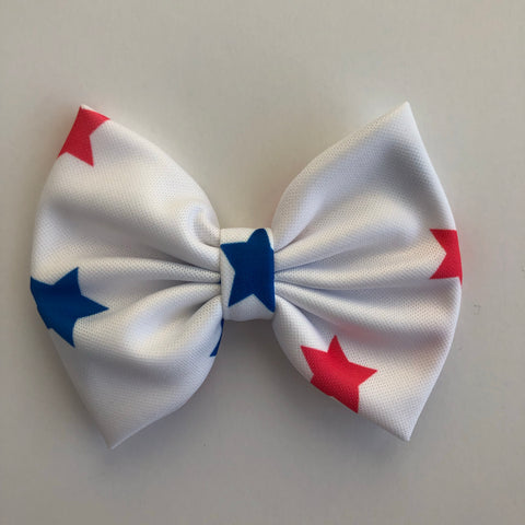 "Red & blue Stars 4"" Capri Bow"