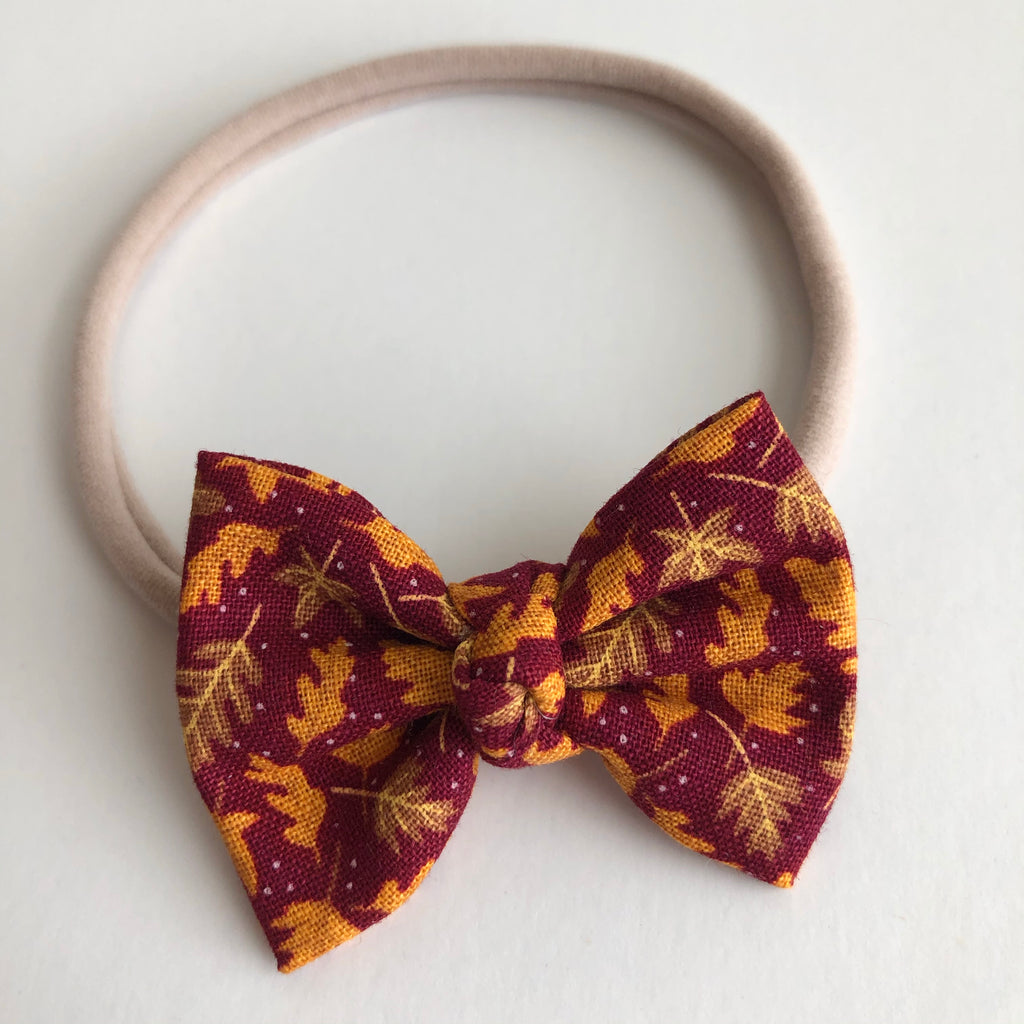"Falling Leaves 2"" Chloe bow"
