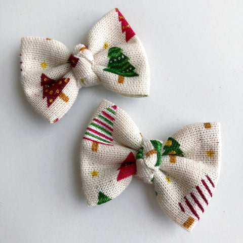 "Farmhouse Christmas 2"" pigtail set"