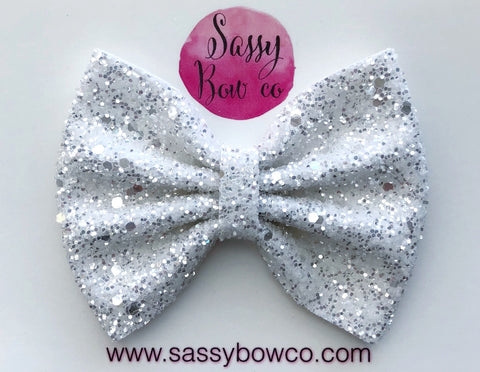 Large Angel Kiss Glitter Bow