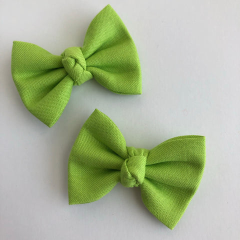 "Lime Green 2"" pigtail set"
